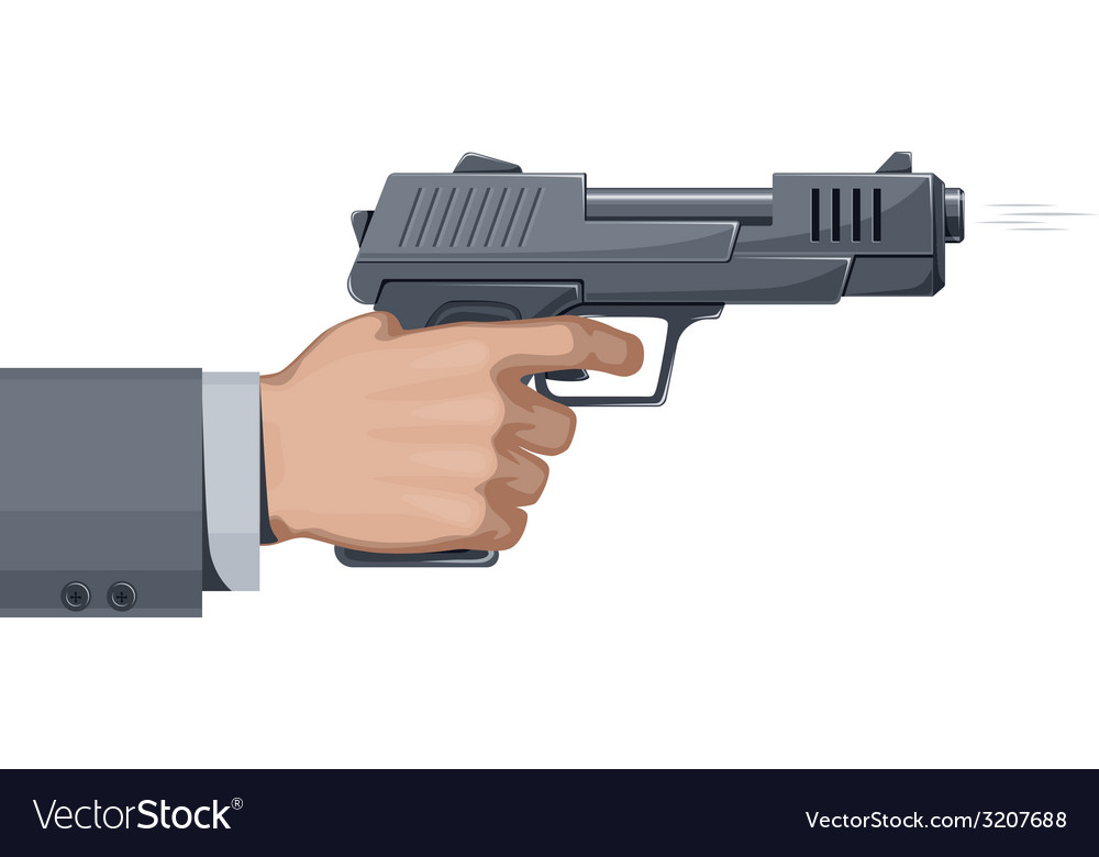 Handgun vector | Price: 1 Credit (USD $1)