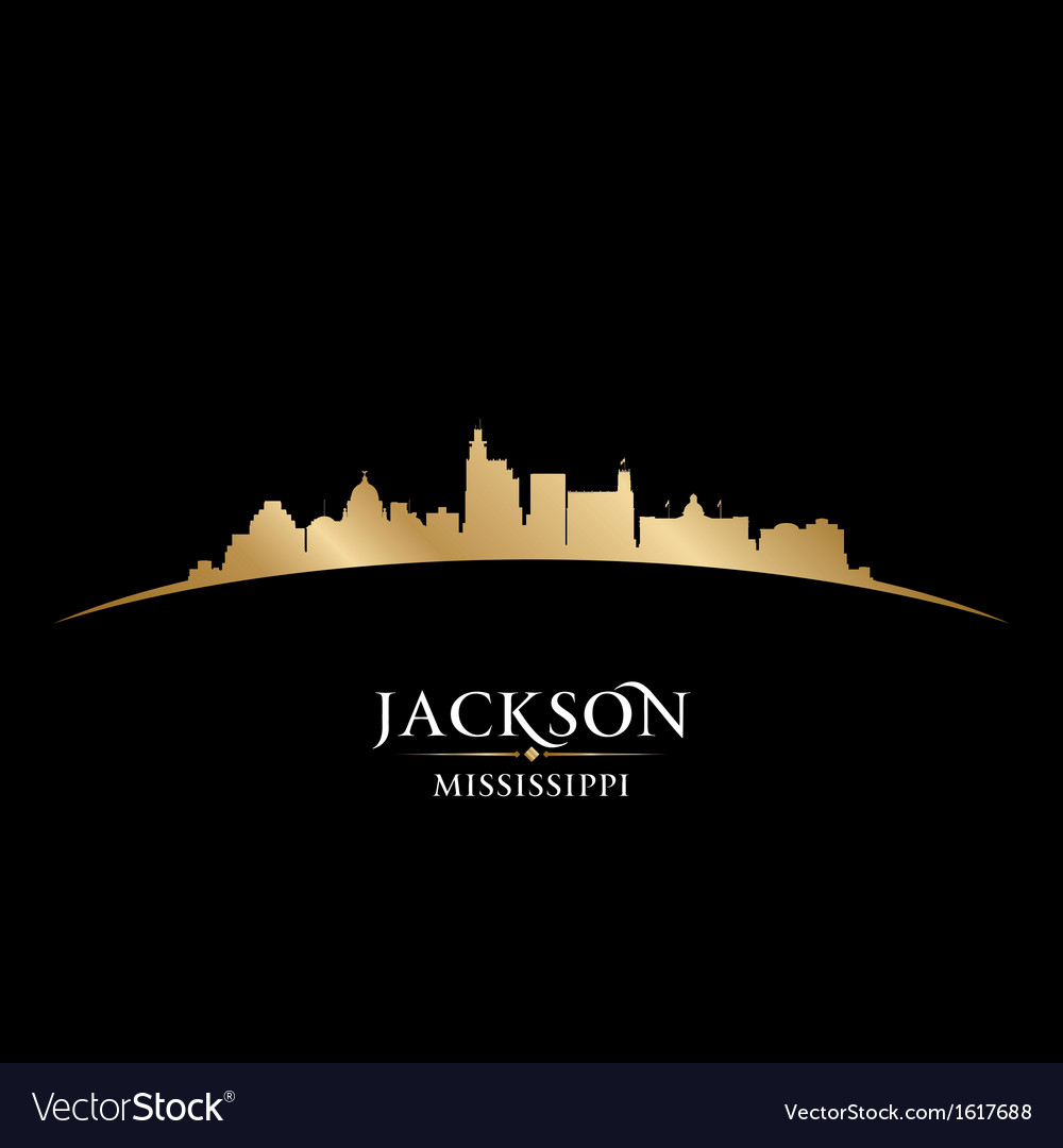 Jackson mississippi city skyline silhouette vector | Price: 1 Credit (USD $1)