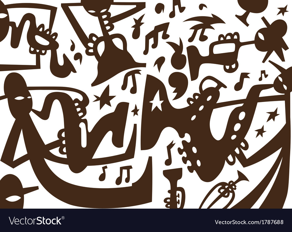 Jazz musicians play on tubes vector   Price: 1 Credit (USD $1)