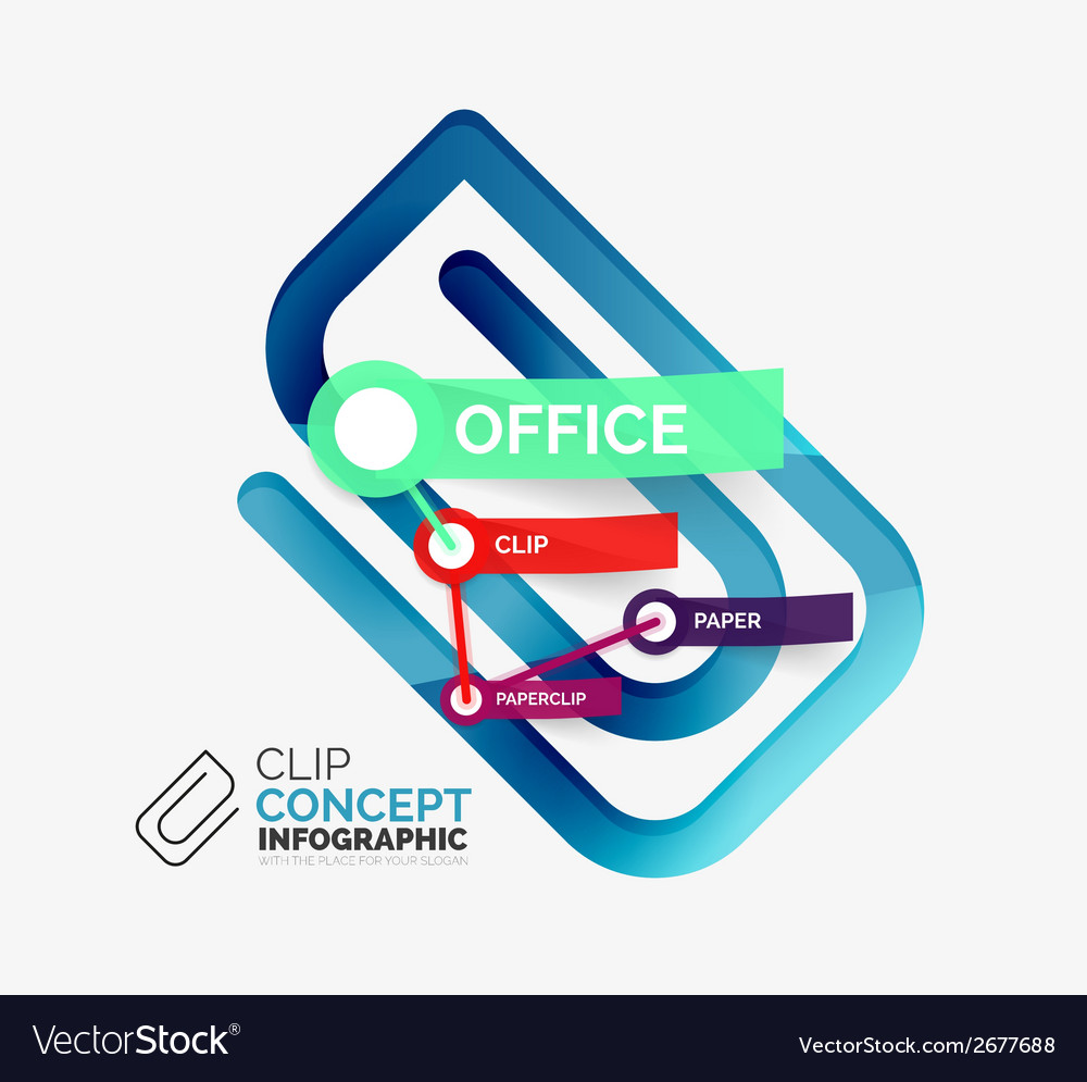 Office clip infographic concept vector | Price: 1 Credit (USD $1)