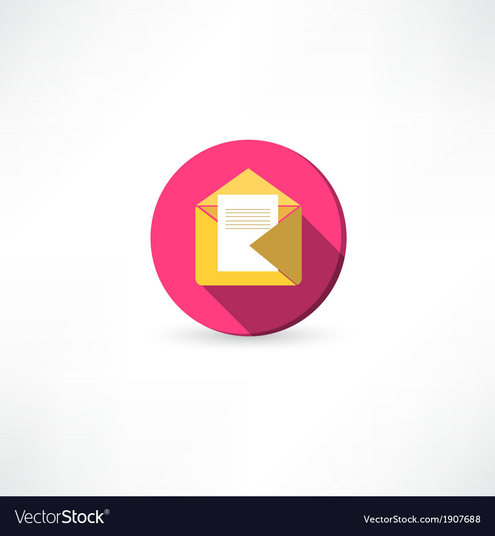Open yellow envelope with a mail vector | Price: 1 Credit (USD $1)