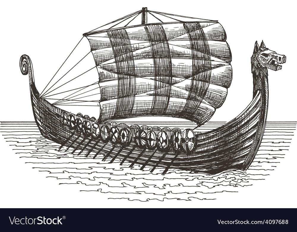 Retro ship logo design template boat or vector | Price: 3 Credit (USD $3)