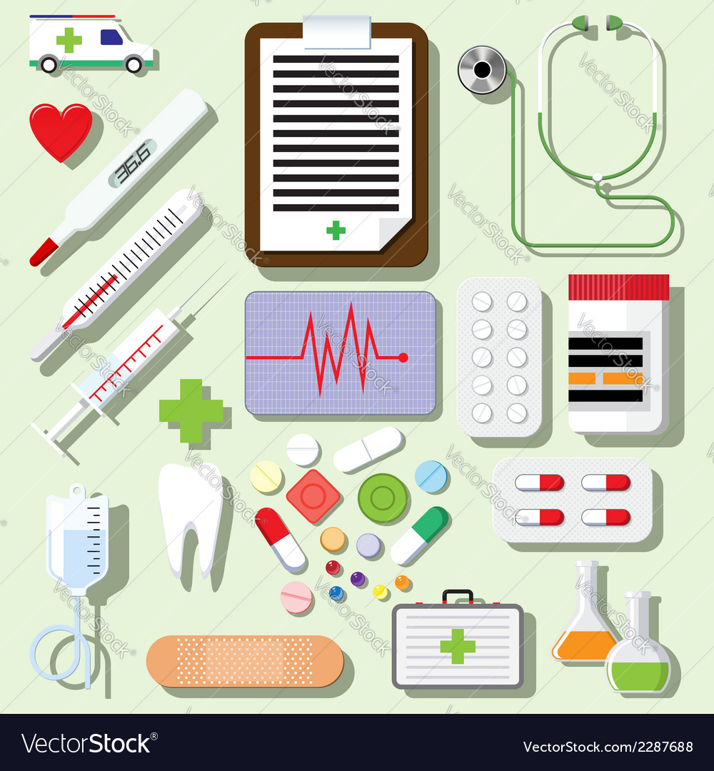 Set of medical icons vector | Price: 1 Credit (USD $1)
