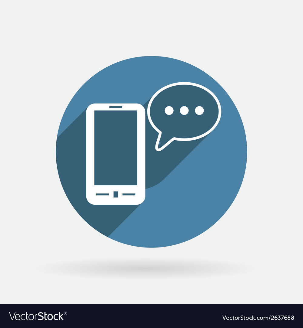 Smartphone with cloud of speaking dialogue vector | Price: 1 Credit (USD $1)