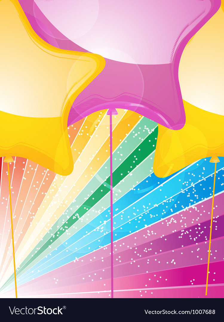 Star shaped balloons and starburst vector | Price: 1 Credit (USD $1)