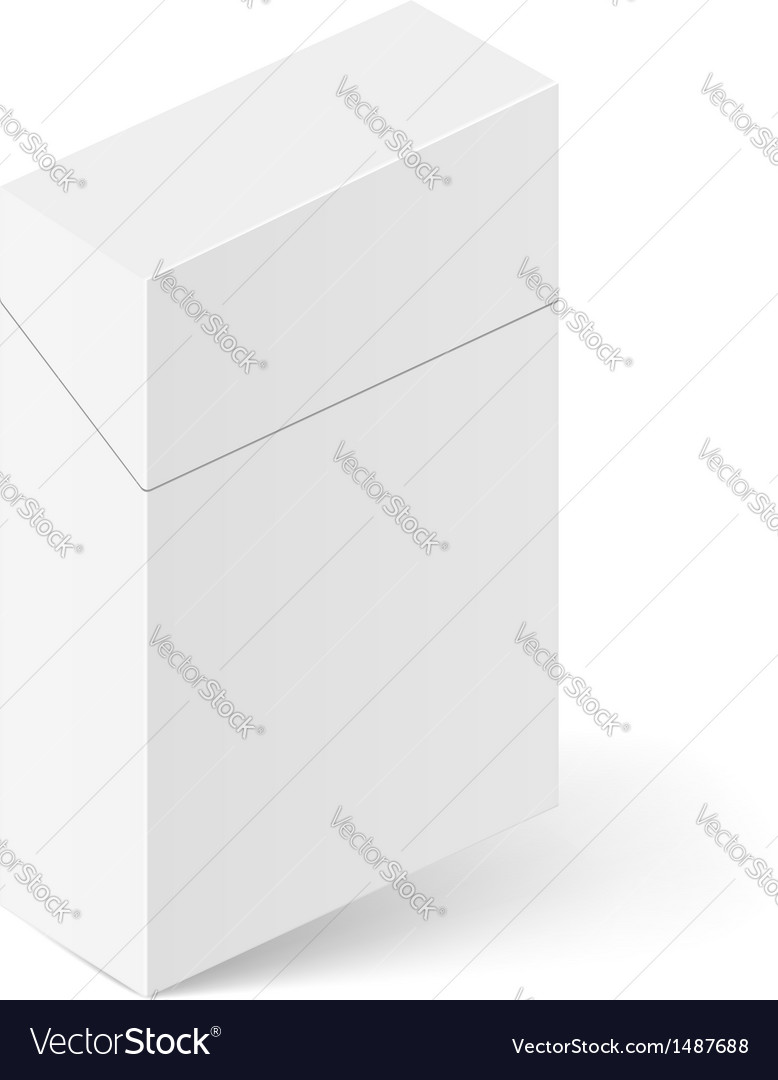 White pack of cigarettes vector | Price: 1 Credit (USD $1)