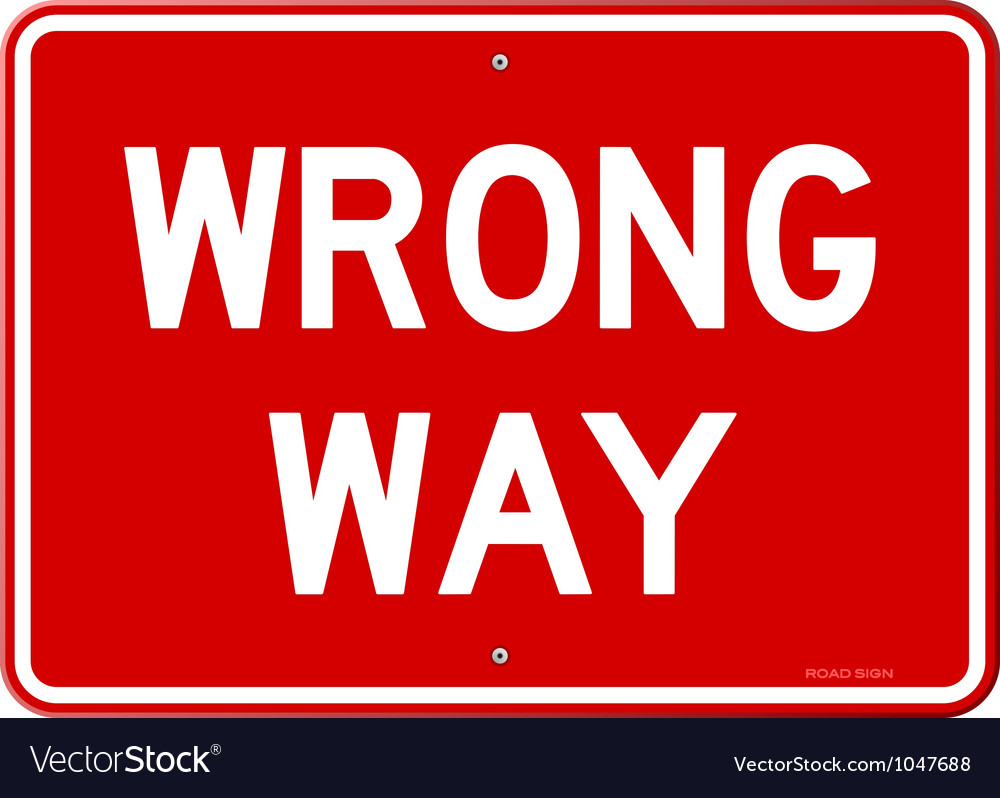 Wrong way sign vector | Price: 1 Credit (USD $1)