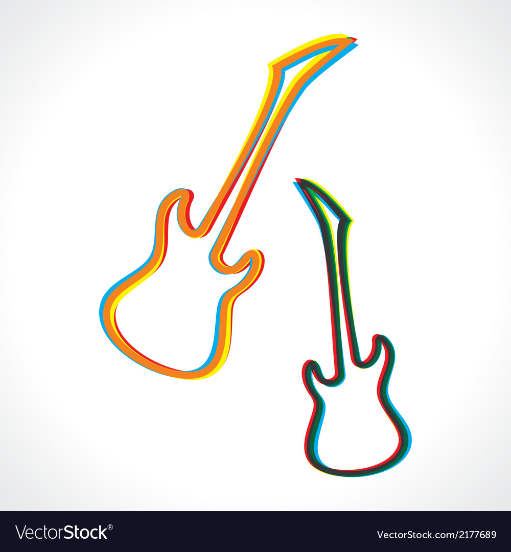 Abstract colorful guitar design vector | Price: 1 Credit (USD $1)