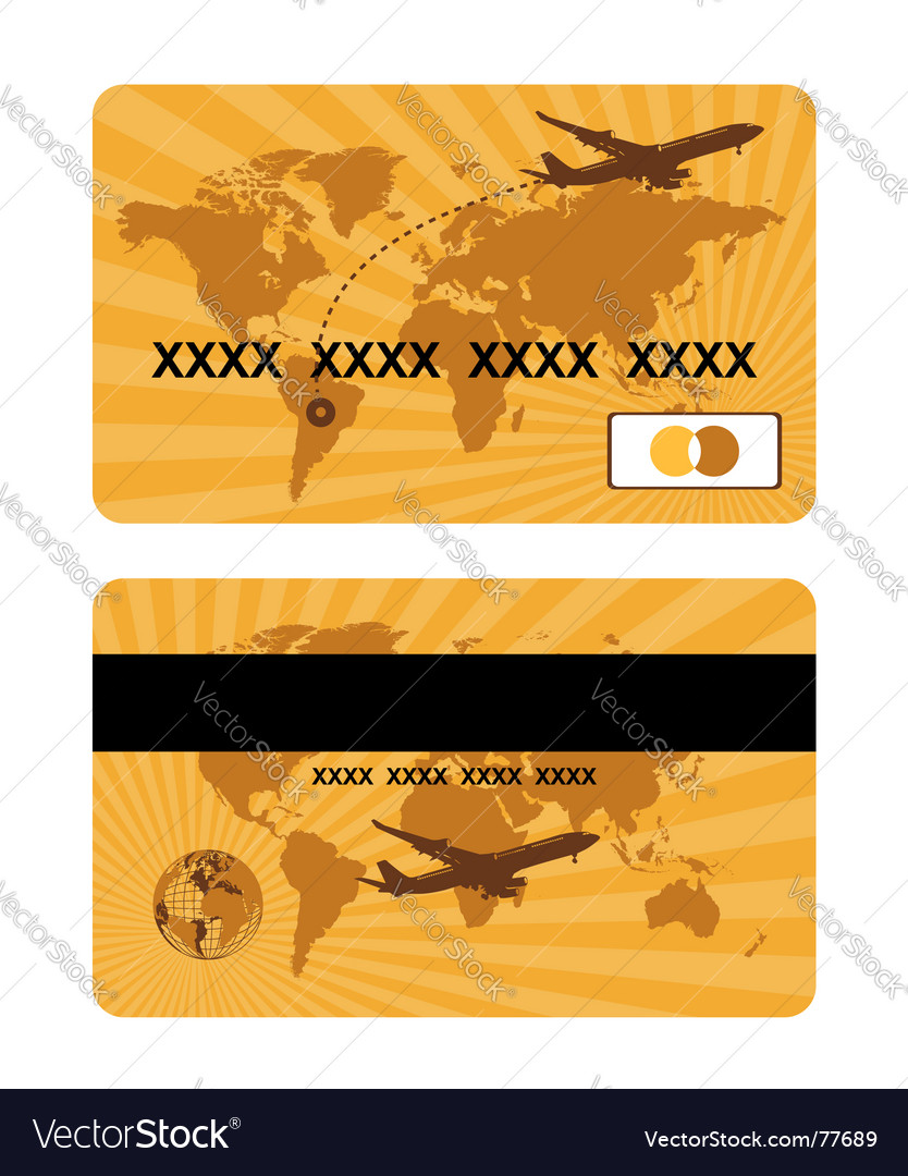 Bank card design world travel vector | Price: 1 Credit (USD $1)