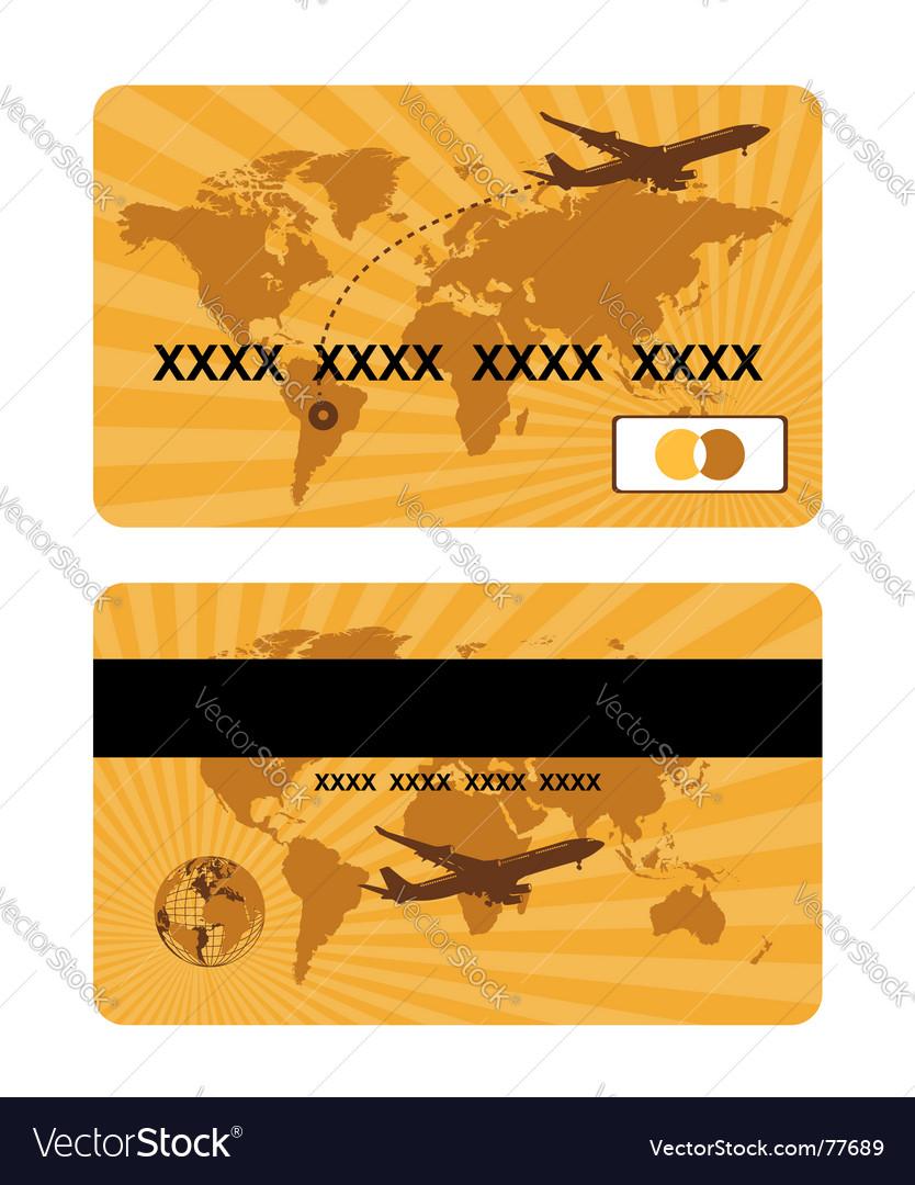 Bank card design world travel vector | Price: 1 Credit (USD $1)