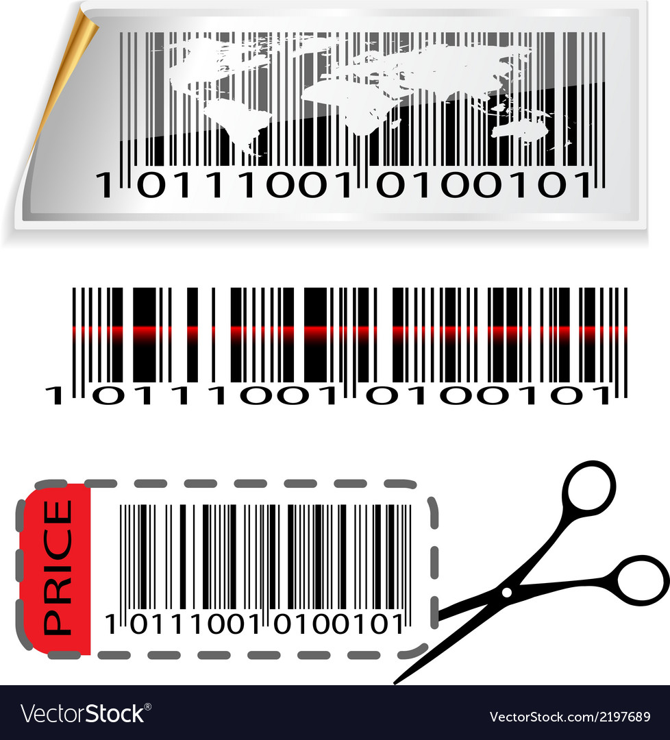Bar code map vector | Price: 1 Credit (USD $1)