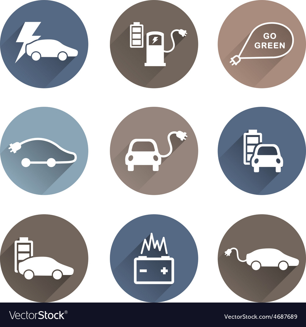 Electric cars icons vector | Price: 1 Credit (USD $1)