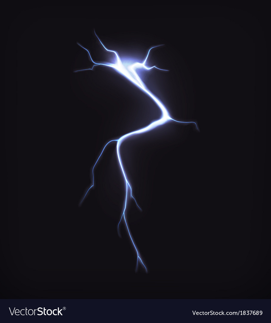 Lightning on black vector | Price: 1 Credit (USD $1)