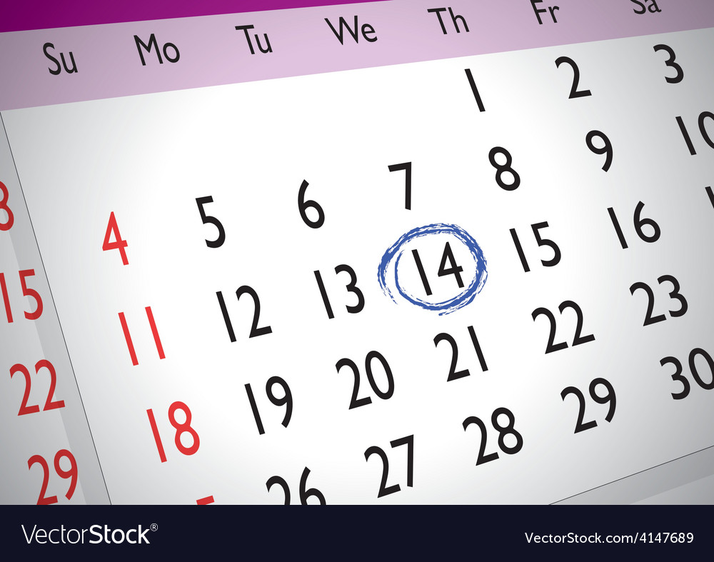 Marked date vector | Price: 1 Credit (USD $1)