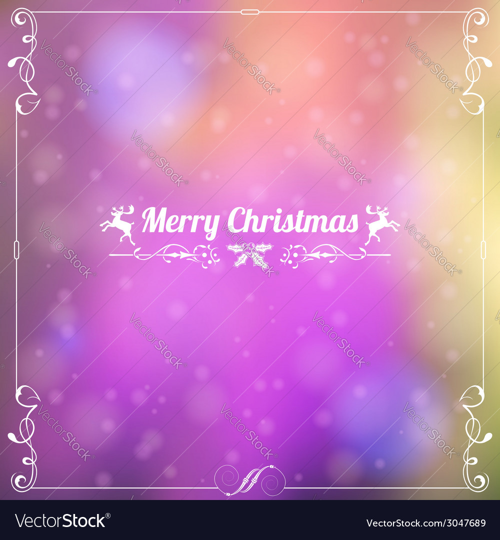 Retro christmas frame vector | Price: 1 Credit (USD $1)