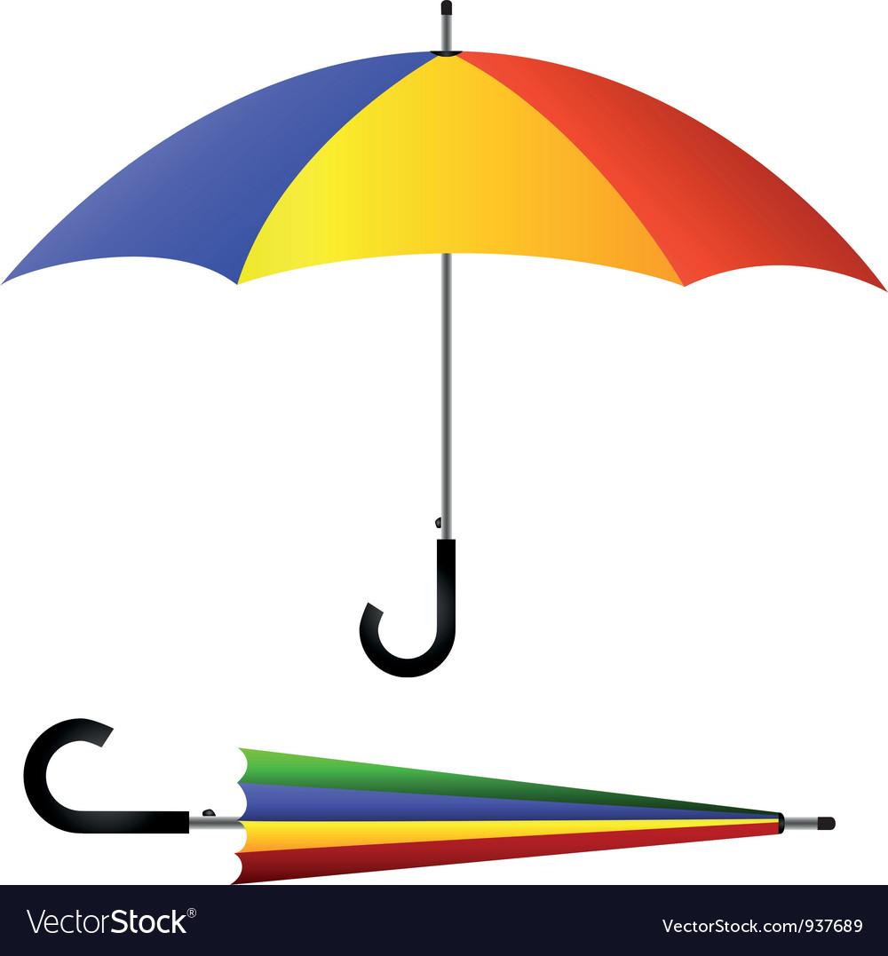 Umbrella open and closed vector | Price: 1 Credit (USD $1)