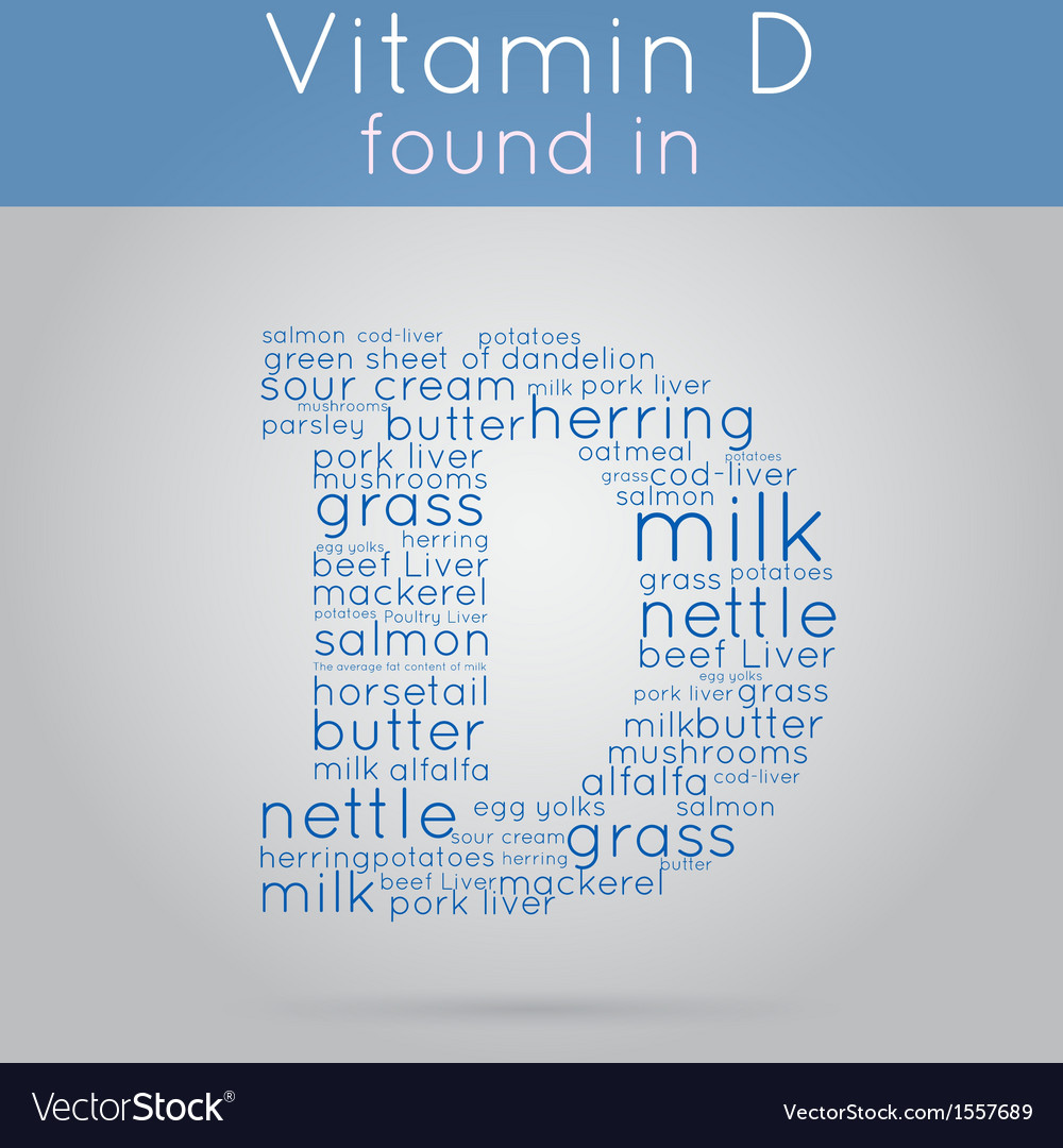 Vitamin d info-text background vector | Price: 1 Credit (USD $1)