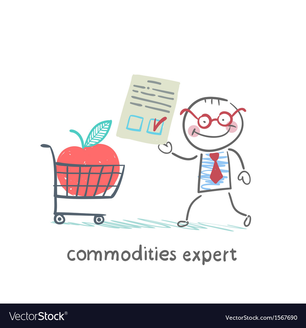 Commodities expert merchandise with the document vector | Price: 1 Credit (USD $1)