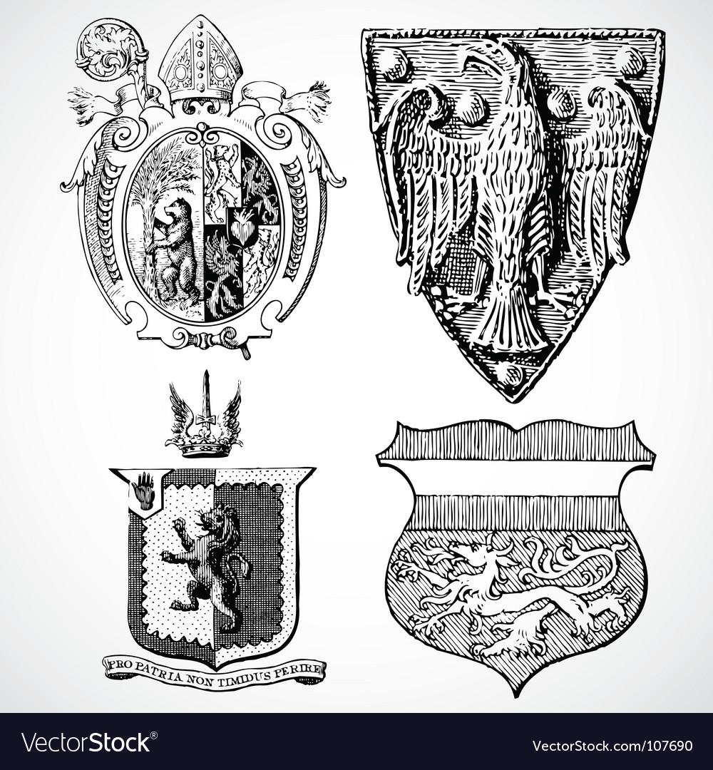 Crest set vector | Price: 1 Credit (USD $1)