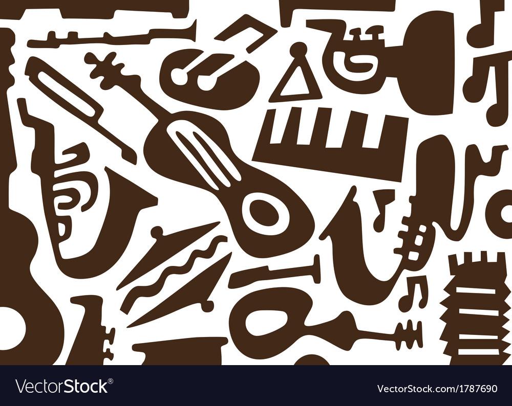 Jazz music instruments -doodles vector | Price: 1 Credit (USD $1)