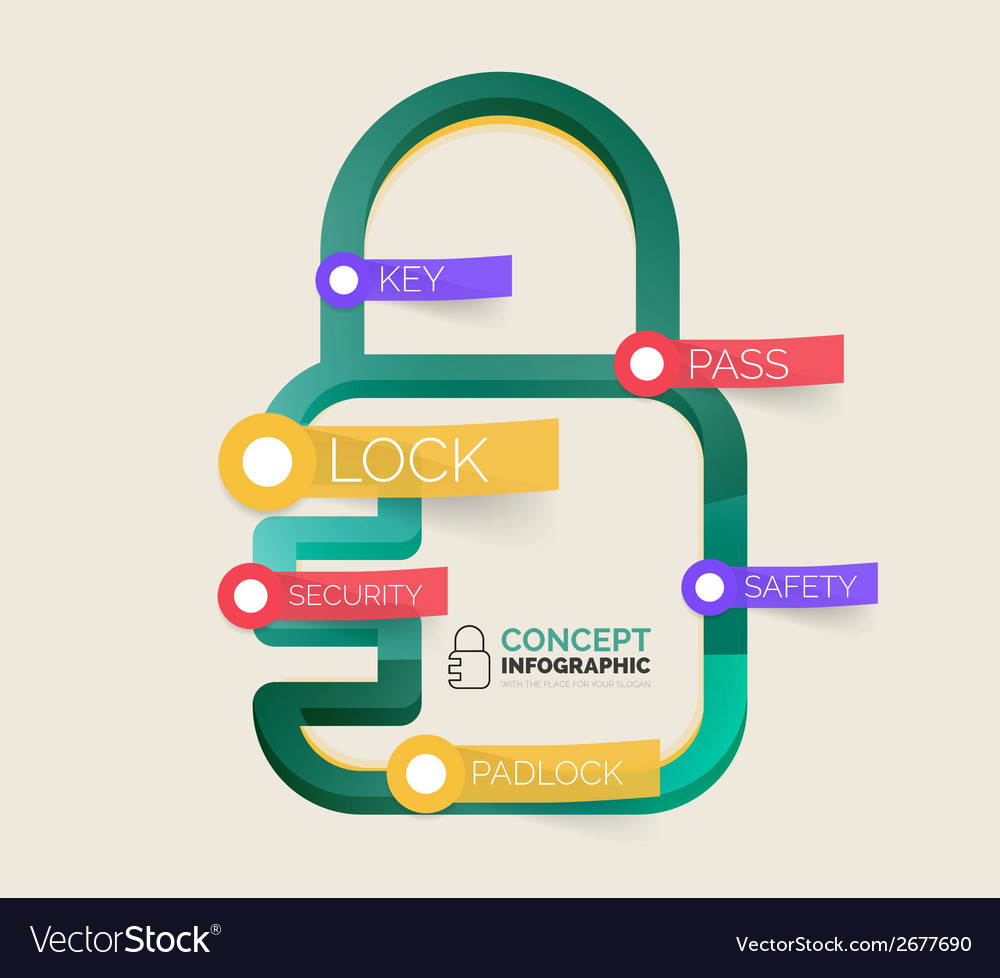 Lock icon infographic concept vector | Price: 1 Credit (USD $1)