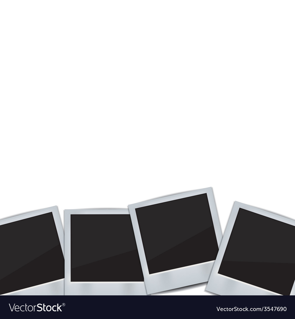 Retro photo frame isolated on white background vector | Price: 1 Credit (USD $1)