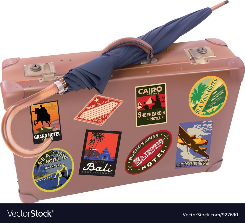 Suitcase umbrella vector | Price: 3 Credit (USD $3)