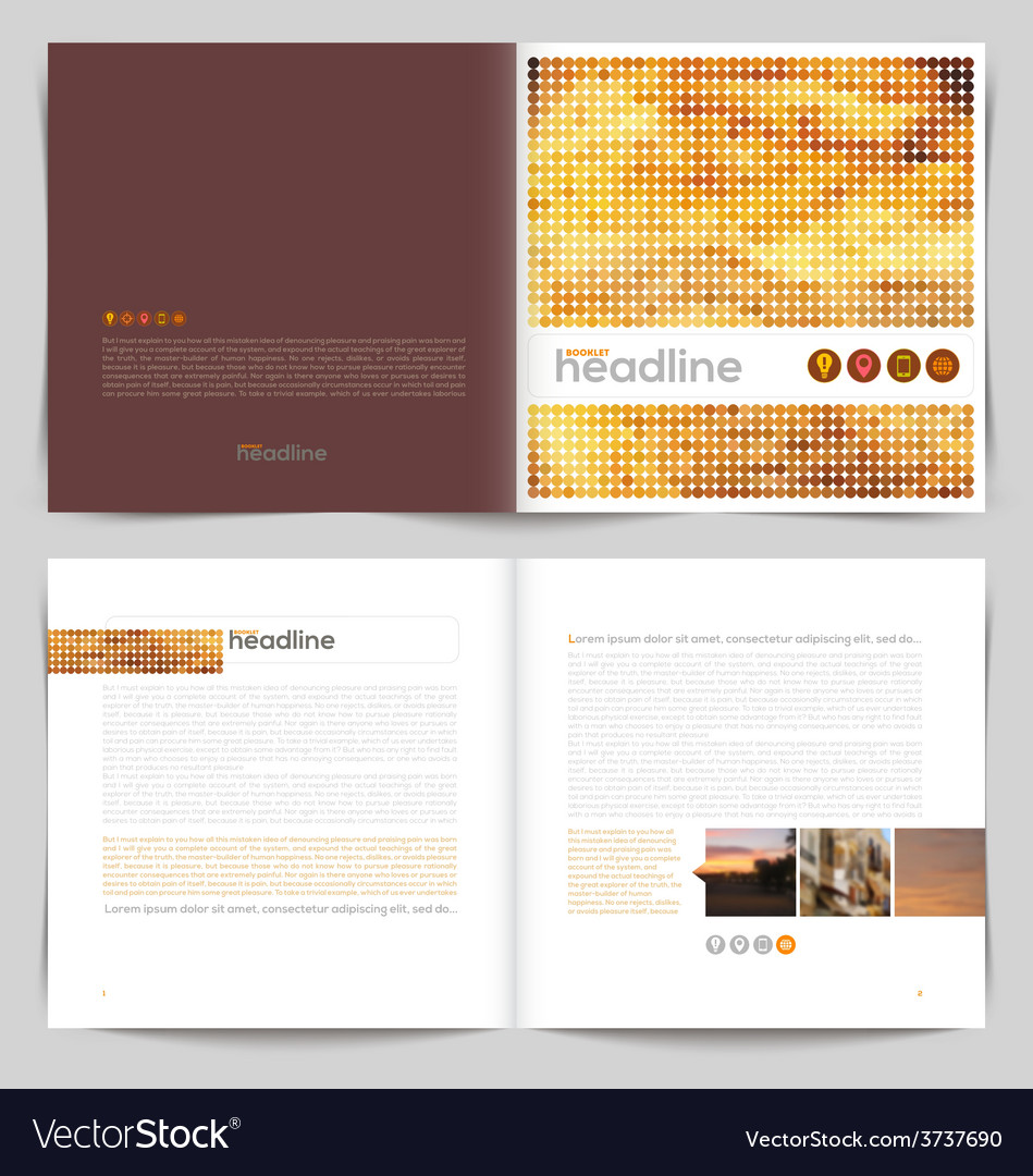 Template booklet design - cover and inside pages vector | Price: 1 Credit (USD $1)