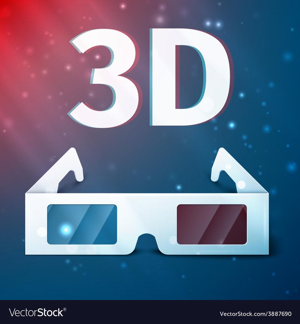 Three d glasses vector   Price: 1 Credit (USD $1)