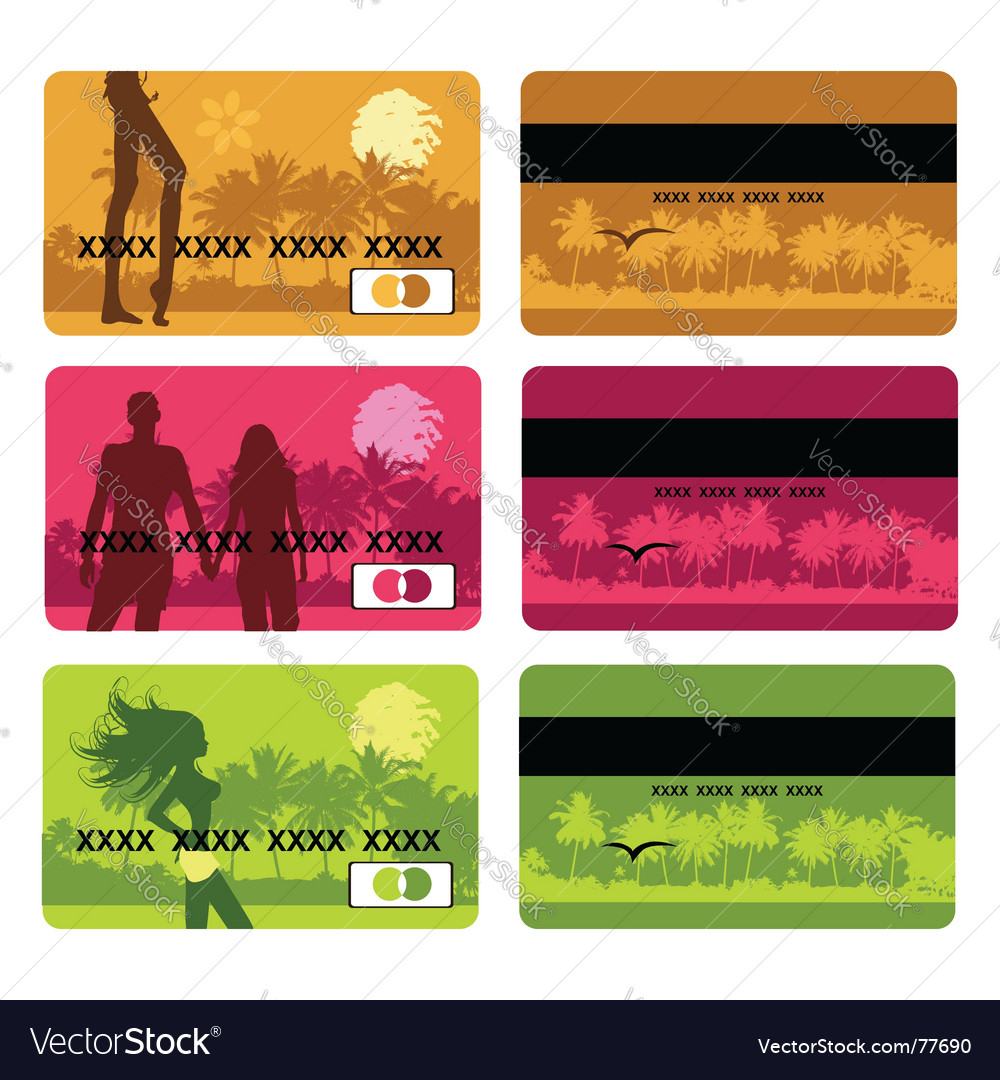 Travel cards vector | Price: 1 Credit (USD $1)