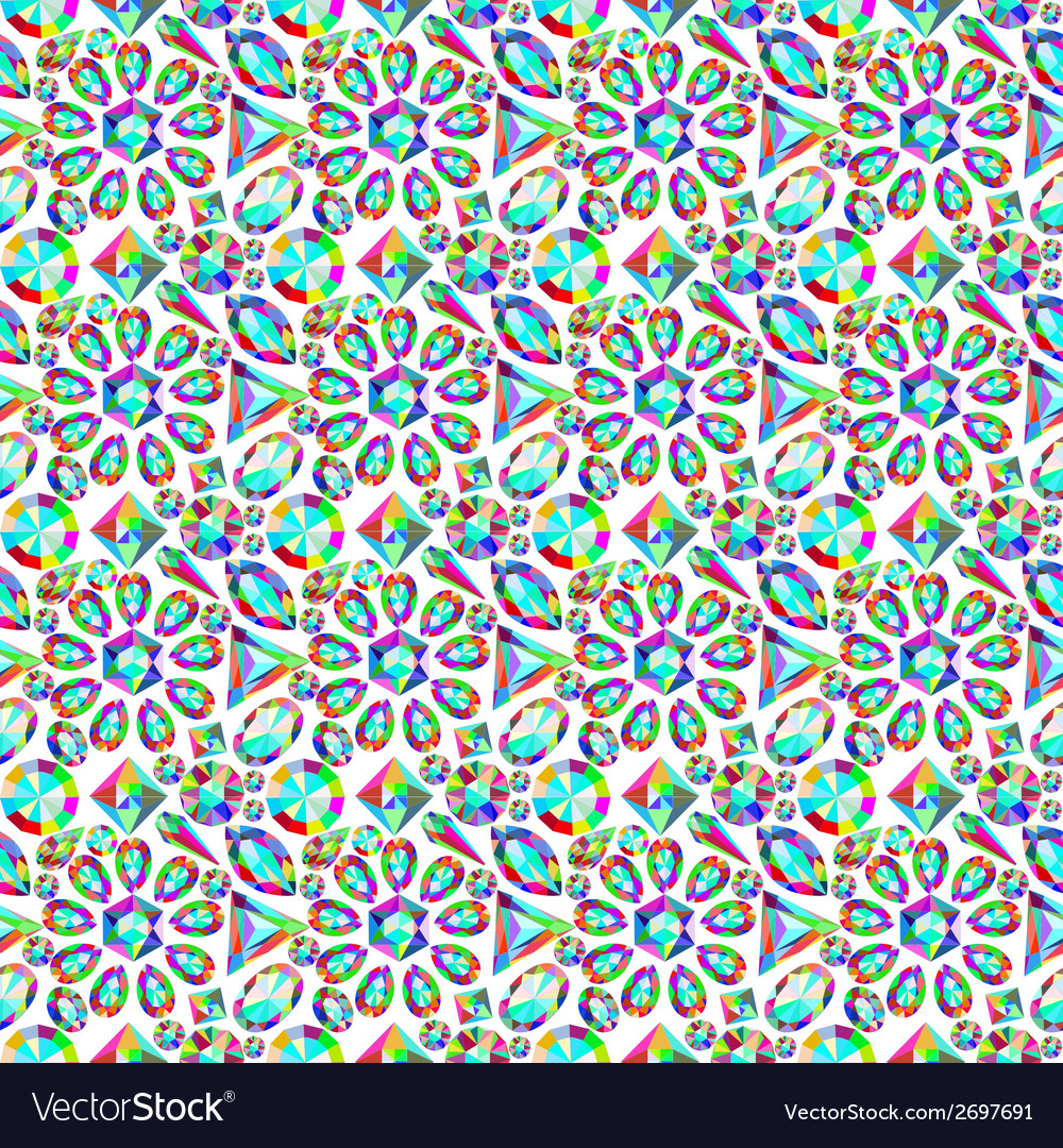 Background with a mosaic of precious stones vector | Price: 1 Credit (USD $1)