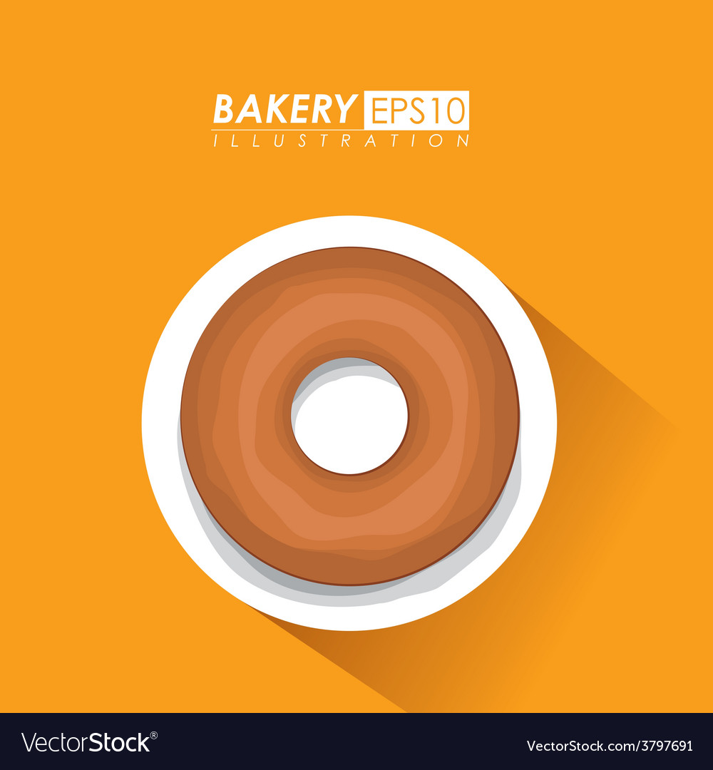 Bakery design over brown background vector   Price: 1 Credit (USD $1)
