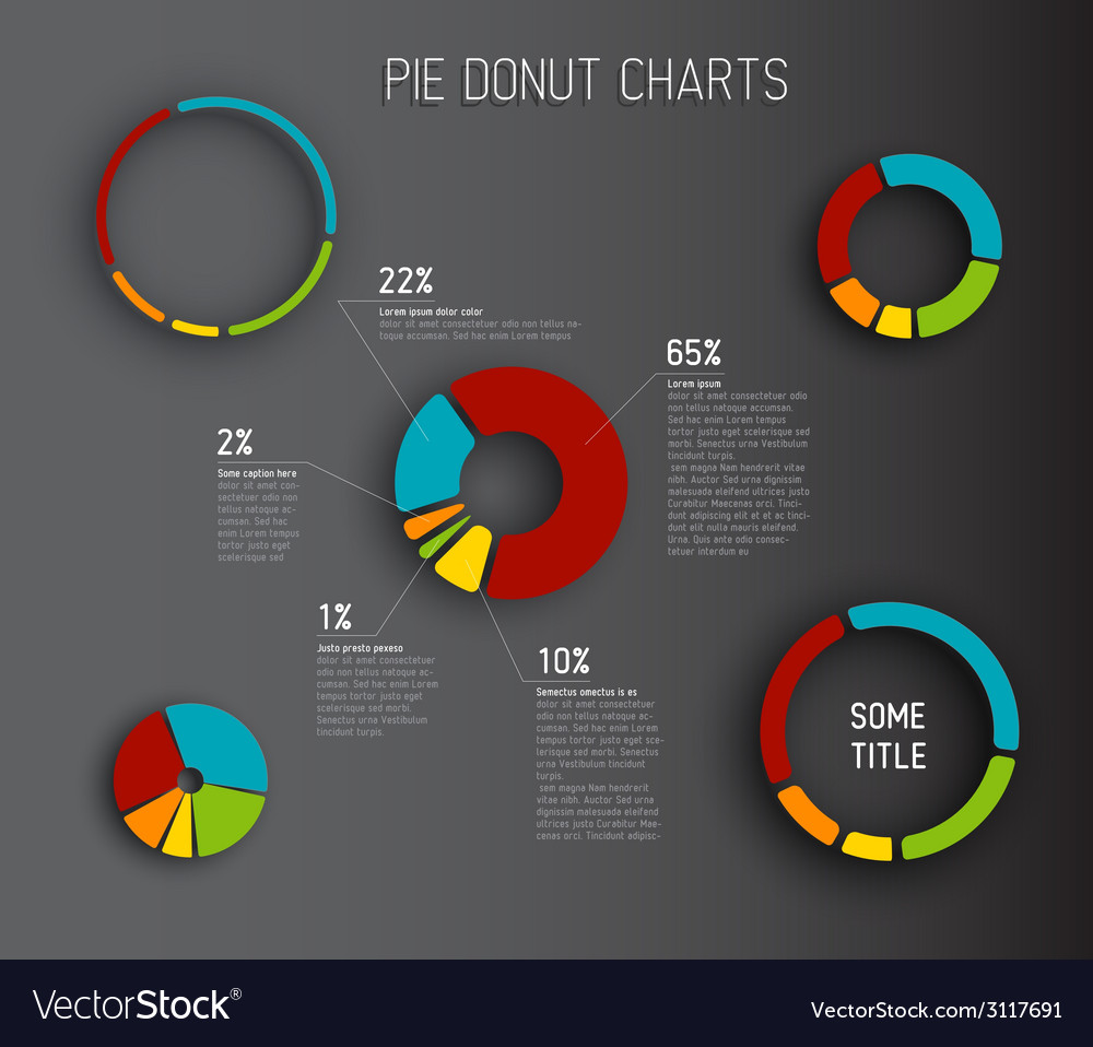 Donut pie chart templates vector   Price: 1 Credit (USD $1)