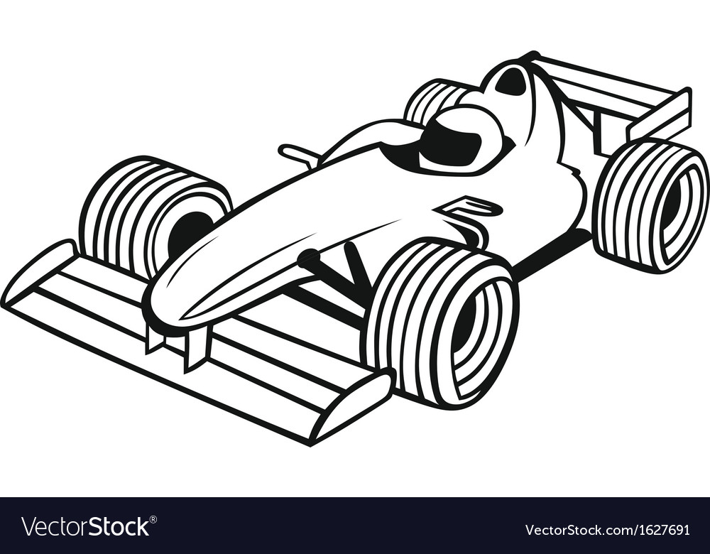 Formula 1 racing car vector | Price: 1 Credit (USD $1)