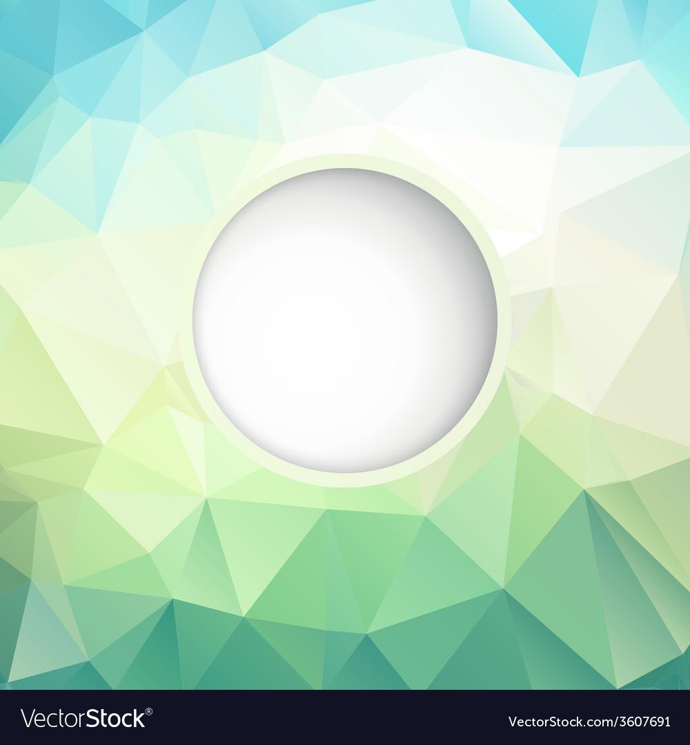 Fresh polygonal background vector | Price: 1 Credit (USD $1)