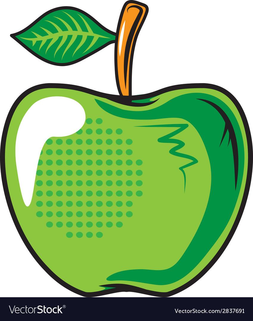Green apple fruit isolated on white vector   Price: 1 Credit (USD $1)