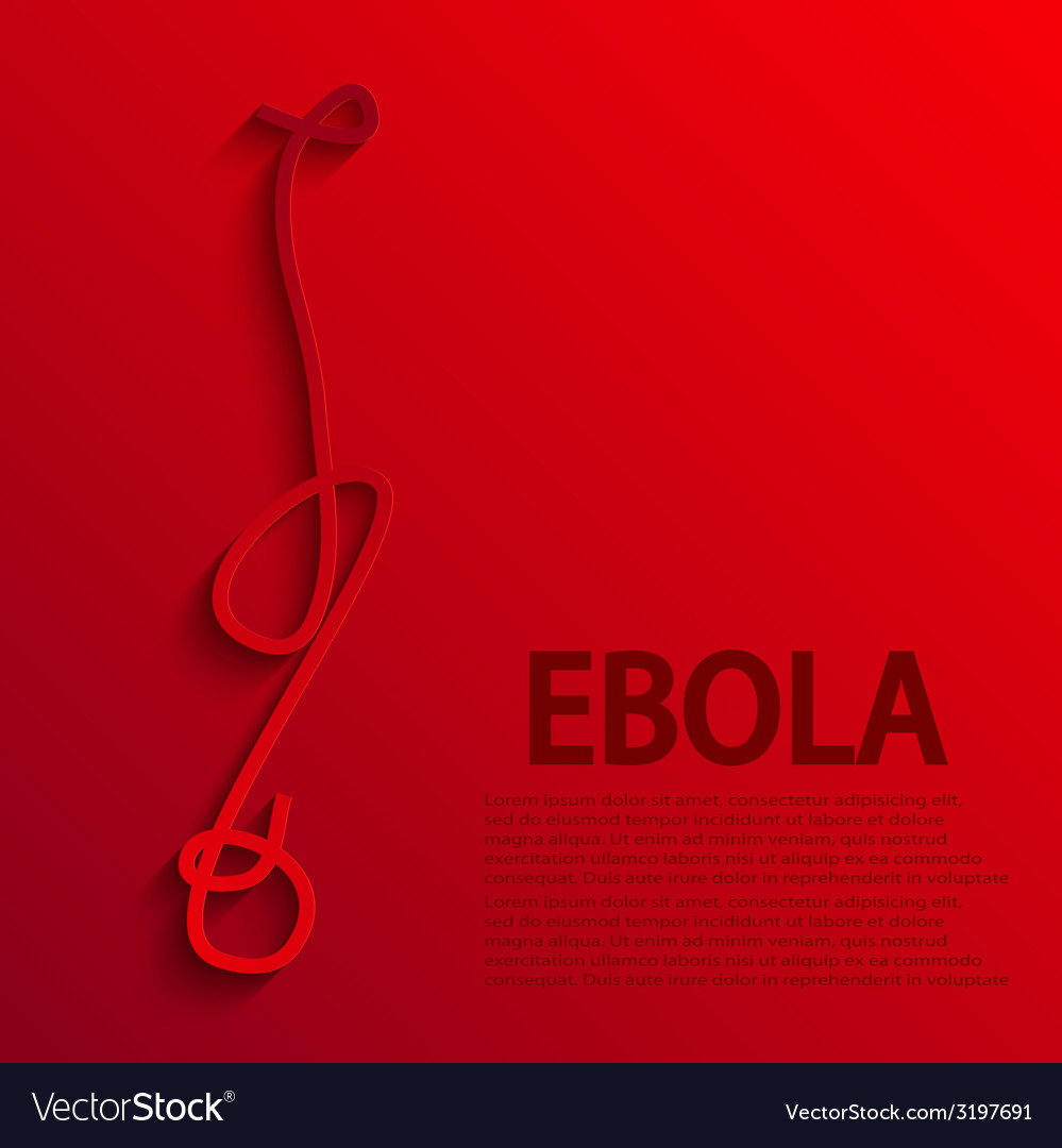 Modern ebola elemenr design vector | Price: 1 Credit (USD $1)