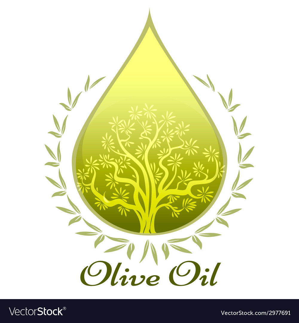 Olive oil label or emblem vector | Price: 1 Credit (USD $1)