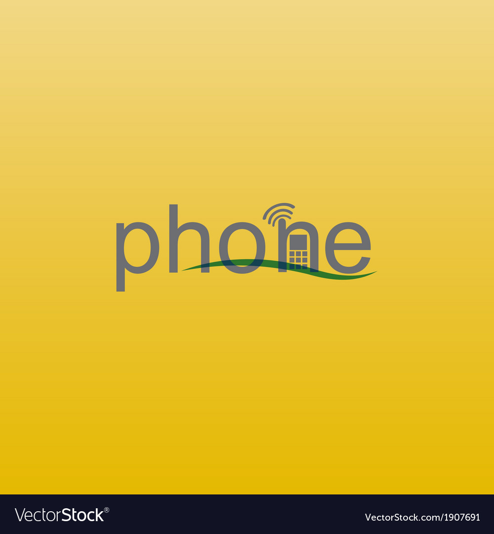 Phone spelling vector | Price: 1 Credit (USD $1)
