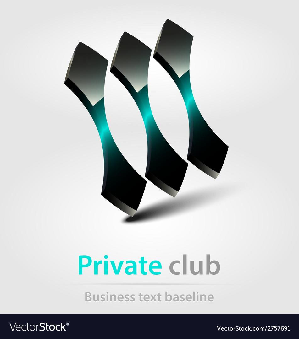 Private club business icon vector | Price: 1 Credit (USD $1)