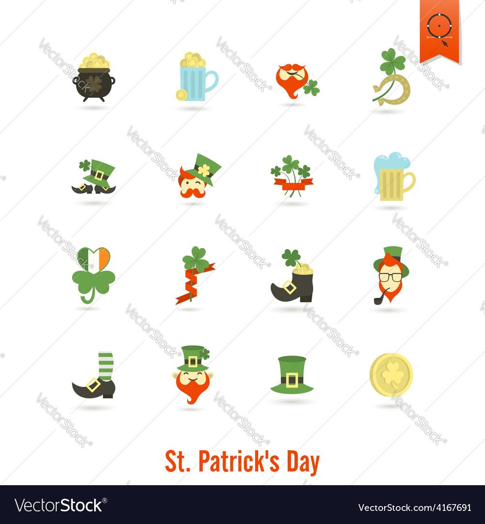 Saint patricks day isolated icon set vector   Price: 1 Credit (USD $1)