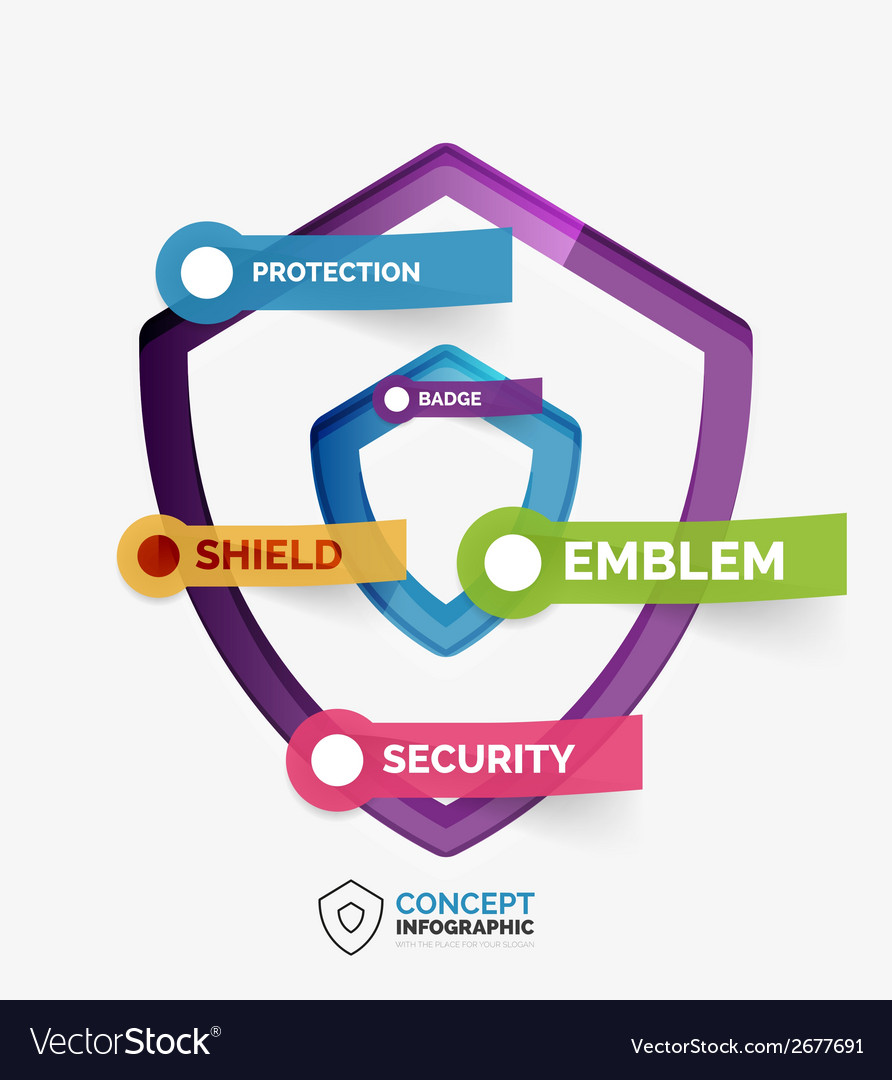 Shield icon infographic concept vector | Price: 1 Credit (USD $1)