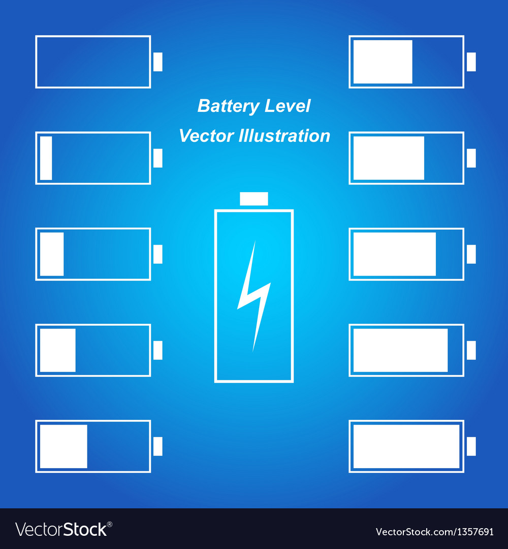 Simple blue battery level vector | Price: 1 Credit (USD $1)