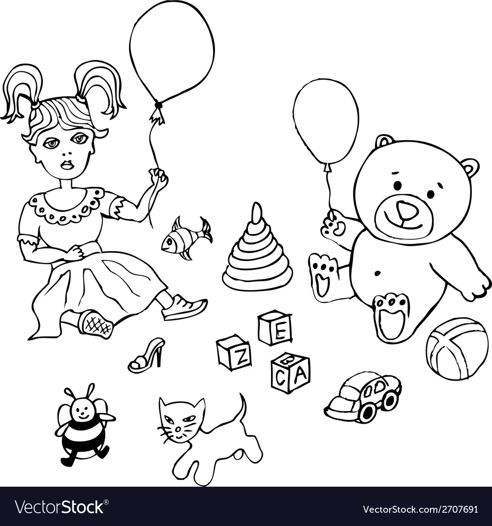 Toy childhood bear cute teddy gift isolated vector | Price: 1 Credit (USD $1)