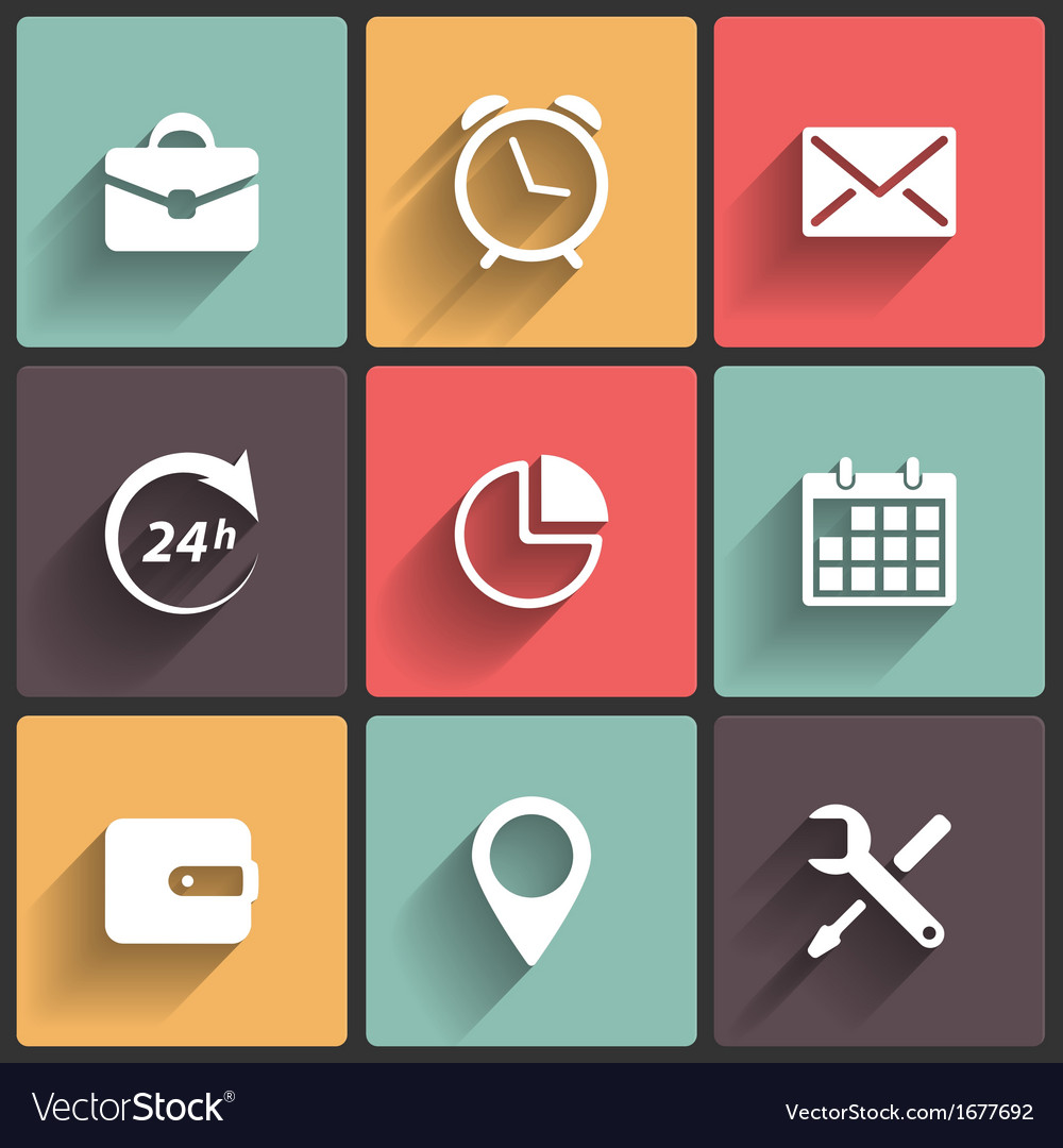Application web icons in flat design vector | Price: 1 Credit (USD $1)