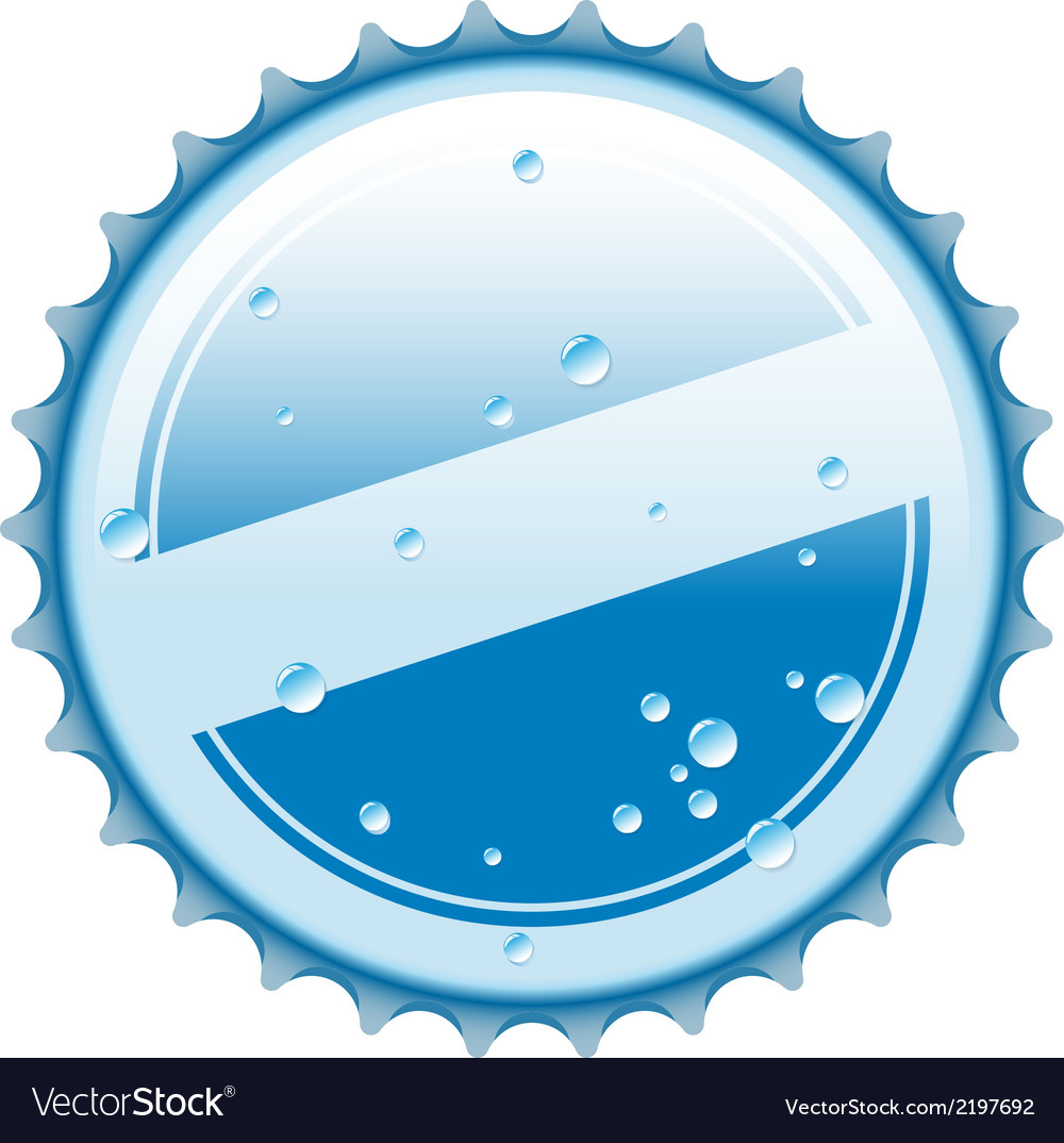 Bottle blue cap vector | Price: 1 Credit (USD $1)