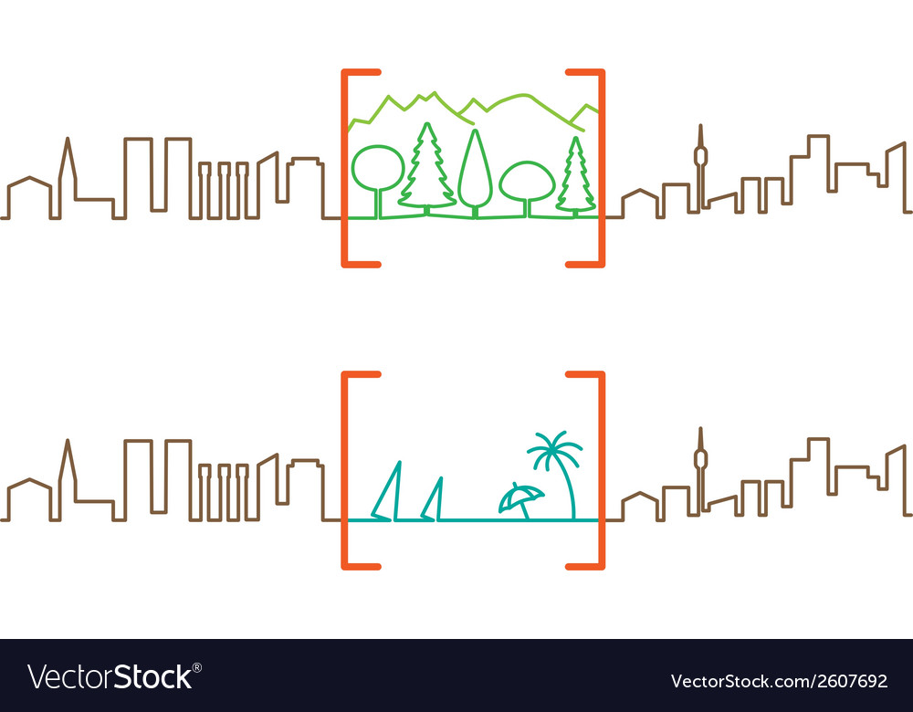 City break vector | Price: 1 Credit (USD $1)