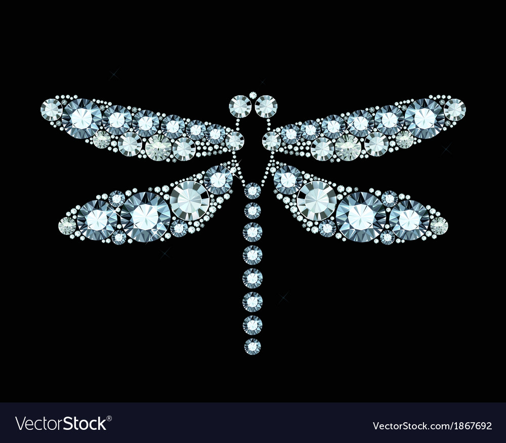 Diamond dragonfly vector | Price: 1 Credit (USD $1)