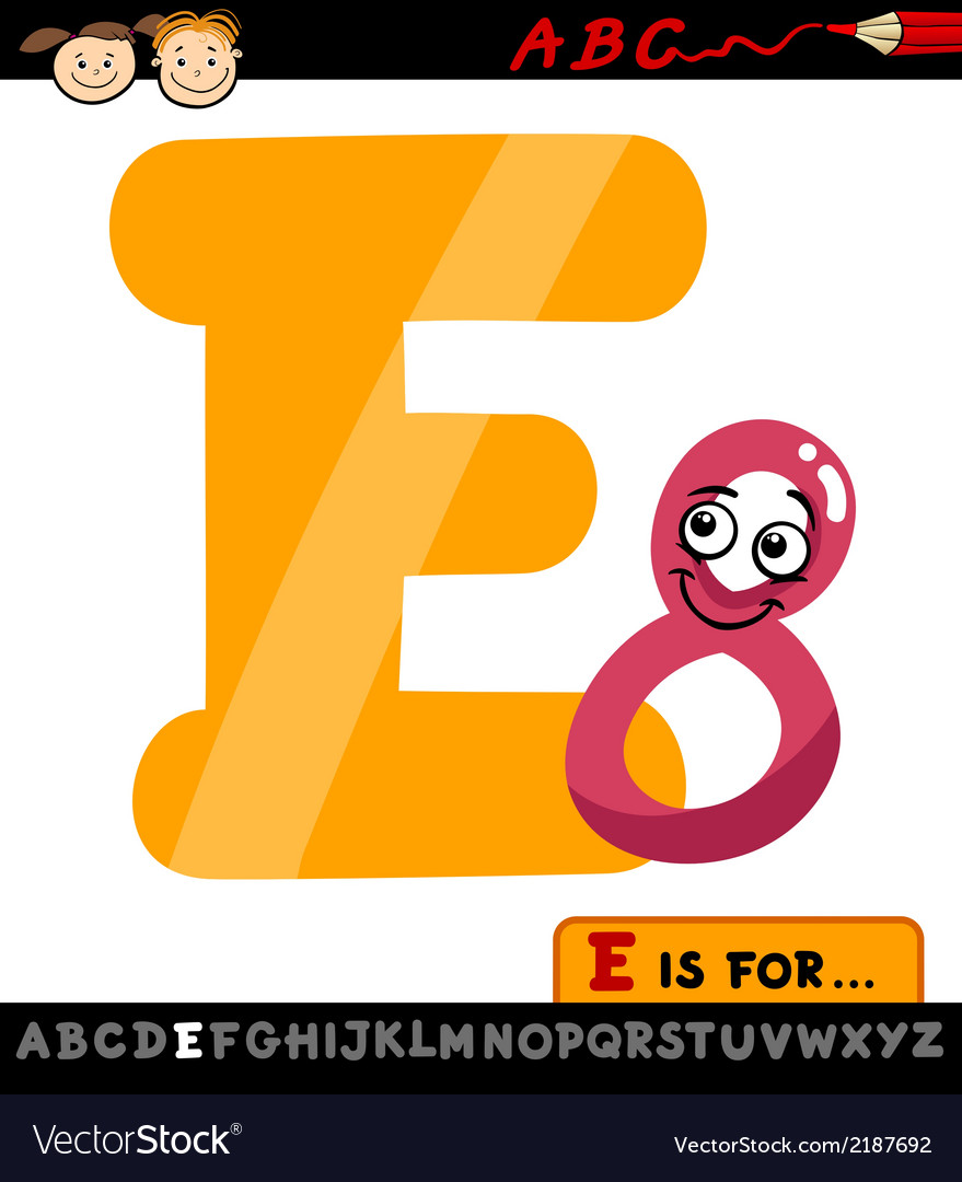 Letter e with eight cartoon vector | Price: 1 Credit (USD $1)
