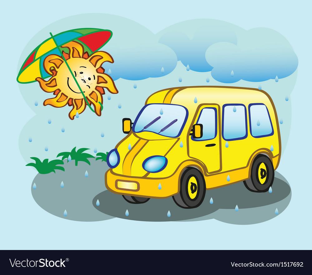 Minibus vector | Price: 1 Credit (USD $1)